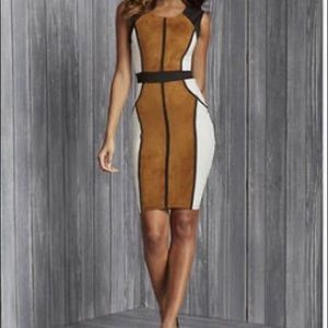 NWT color blocked Sueded mini dress